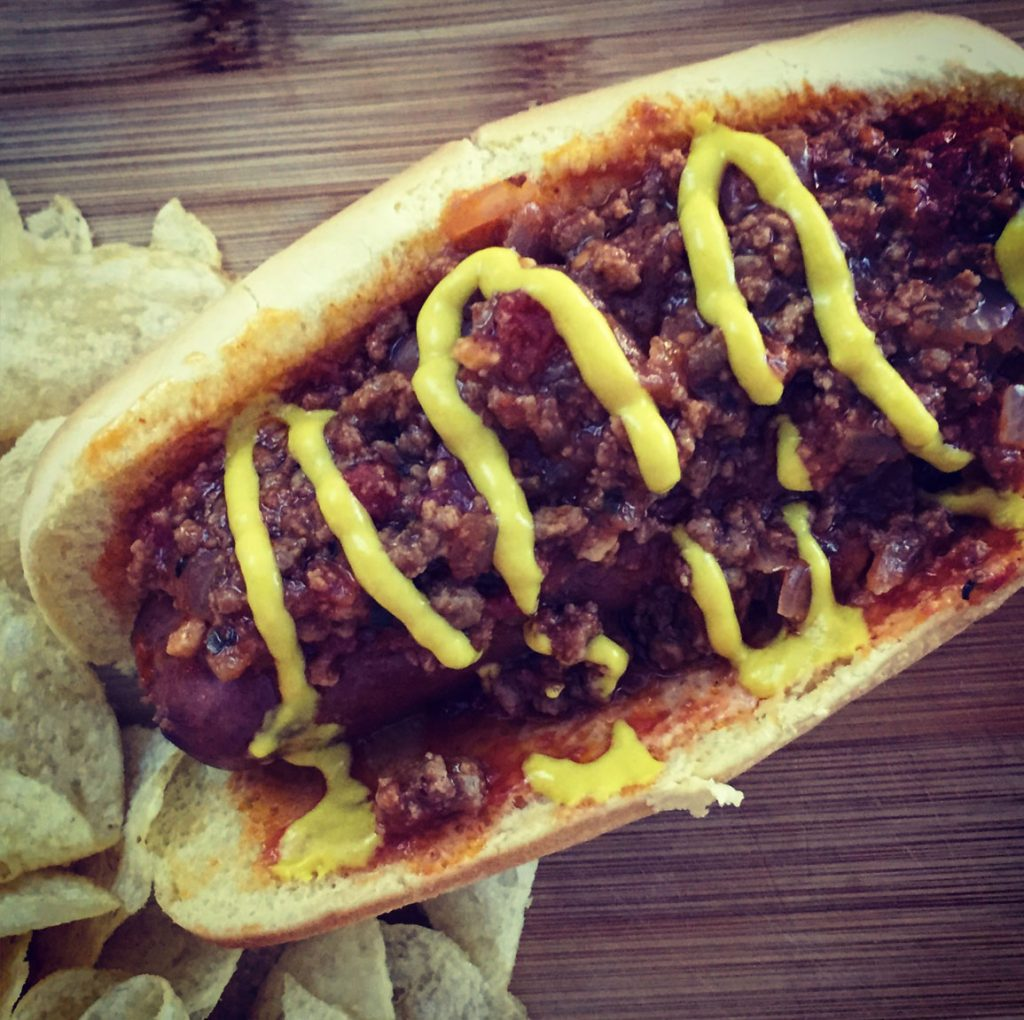 All American Chili Cheese Bacon Dog | Friday Night Cooking