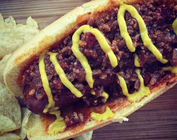 All American Bacon Chili Cheese Dog