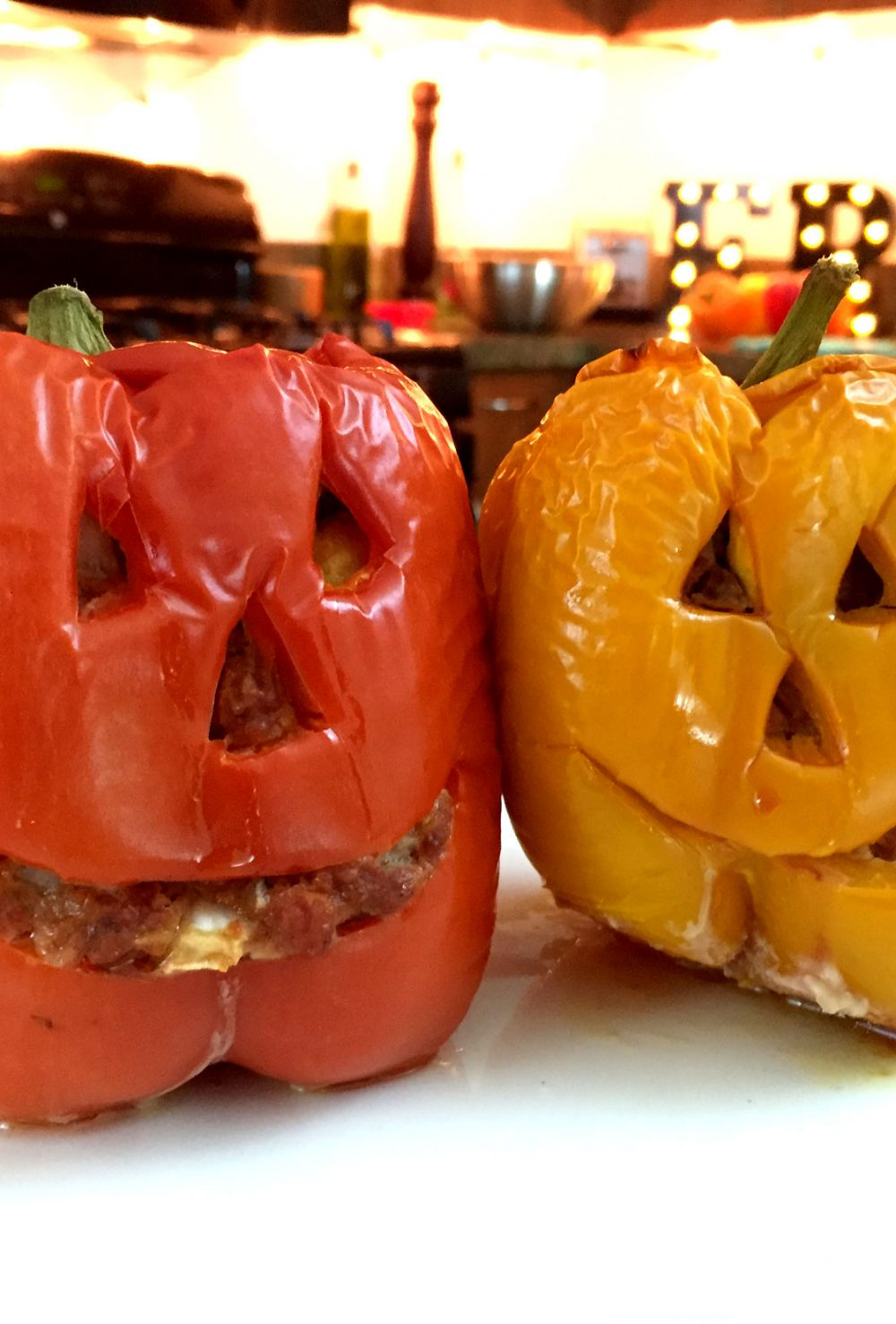 Jack-O-Lantern Bell Peppers | Friday Night Cooking